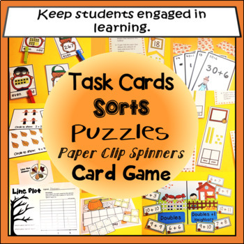 Fall Math Morning Tubs, Morning Work, or Center Activities