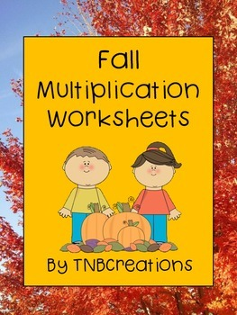 Fall Math Multiplication Worksheets