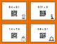 Fall Math: Multiplying Decimals QR Code Task Cards