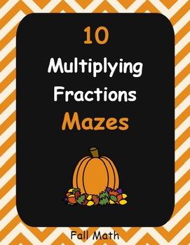 Fall Math: Multiplying Fractions Maze