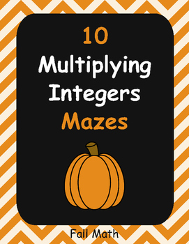 Fall Math: Multiplying Integers Maze