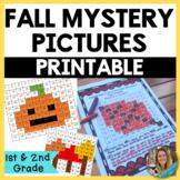 Fall Math Mystery Puzzle- Hundreds Chart