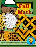 Fall Math - No Prep Printables