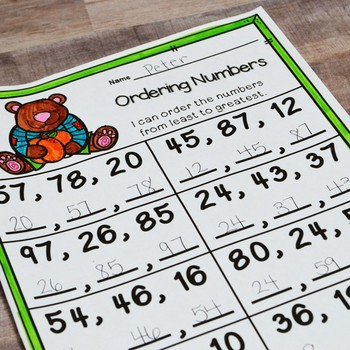 First Grade Fall Math No Prep Printables {TEKS/CCSS}