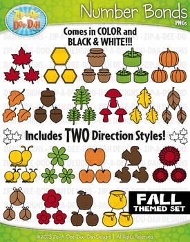 Fall Math Number Bonds Clipart {Zip-A-Dee-Doo-Dah Designs}