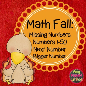 Fall Math Centers- missing numbers, tens and ones, and next number