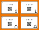 Fall Math: One Step Equations (Addition & Subtraction) QR Code Task Cards