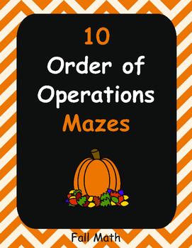 Fall Math: Order of Operations Maze