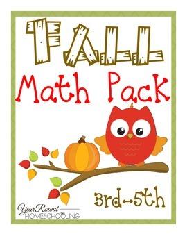 Fall Math Pack (3rd-5th)