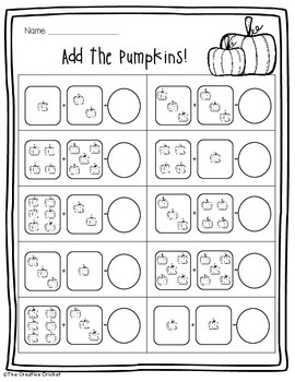 Fall Math Pack - 7 Fun No Prep Printables!