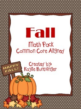 Fall Math Pack (No Prep)