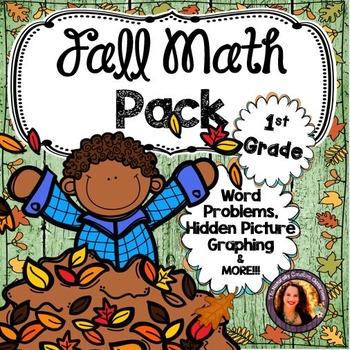 Fall Math Pack for 1st Grade
