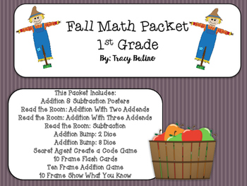 Fall Math Packet