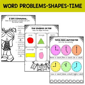 Fall Math Centers {Kindergarten NO PREP}