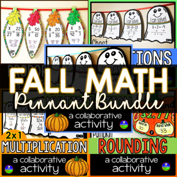 Fall Math Pennants Bundle