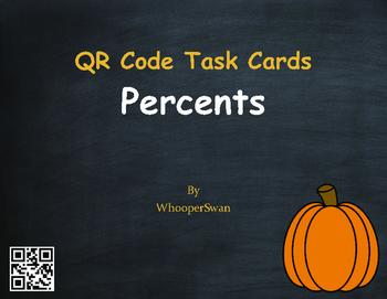 Fall Math: Percents QR Code Task Cards