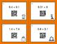 Fall Math: Percents to Decimals QR Code Task Cards