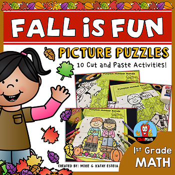 Fall Math Picture Puzzles {1st Grade}