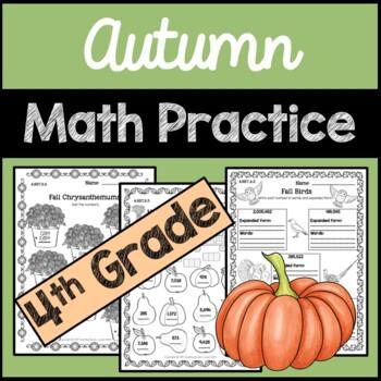 Fall Math Practice 4th Grade