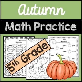 Fall Math Practice 5th Grade
