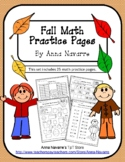Fall  Math Practice Pages