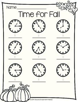 Fall Math Printables FREEBIE