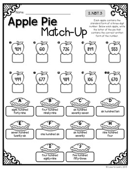 Fall Math Printables - Differentiated for 2nd Grade