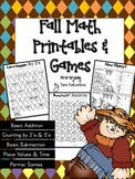 Fall Math Printables & Games No Prep {First Grade}