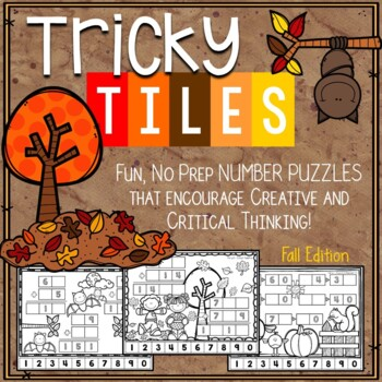 Fall Math Problem Solving Activities - Tricky Tiles