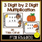 3 Digit by 2 Digit Multiplication Fall Task Cards   Fall Math