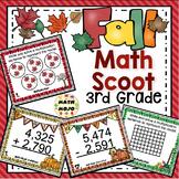 3rd Grade Fall Math Scoot - 3rd Grade Fall Math Activities