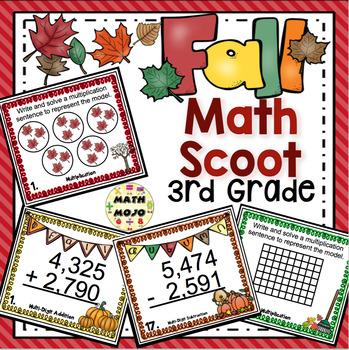 Fall Math Scoot - 3rd Grade
