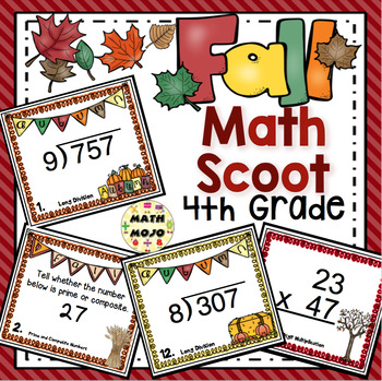 Fall Math Scoot - 4th Grade