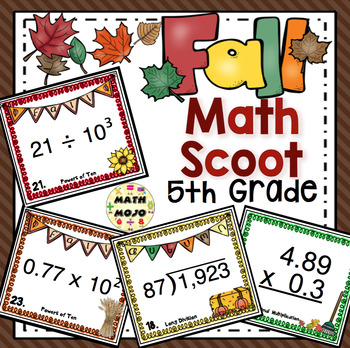 Fall Math Scoot - 5th Grade