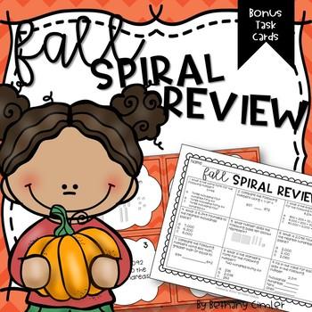Math Spiral Review | Fall Edition