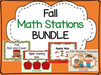 Fall Math Stations Bundle