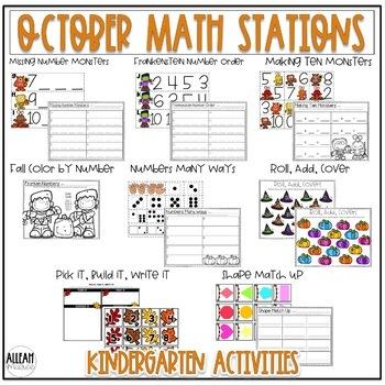 Fall Math Stations for October {Kindergarten}