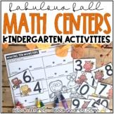 October Math Stations {Kindergarten}