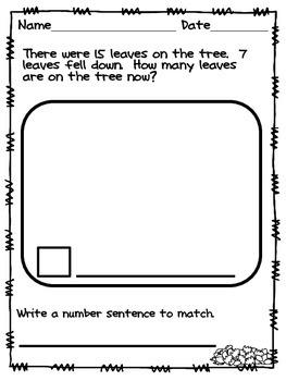 Fall Math Story Problems