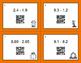 Fall Math: Subtracting Decimals QR Code Task Cards