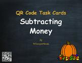 Fall Math: Subtracting Money QR Code Task Cards