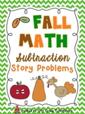 Fall Math Subtraction Word Problems