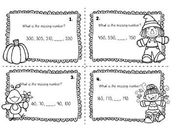 Fall Math Task Cards