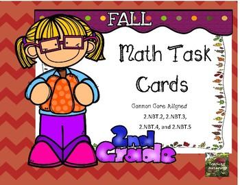 Fall Math Task Cards 2nd grade