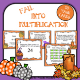 Fall Math Task Cards - Multiplication Facts 2-5