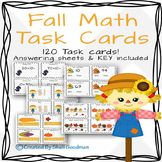 Fall Math Task Cards - 120 cards!!