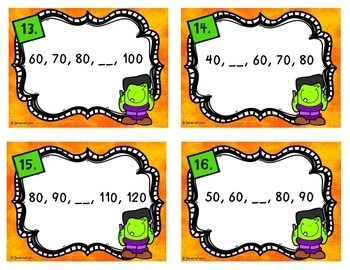 Fall Math Task Cards (14 Set Bundle)