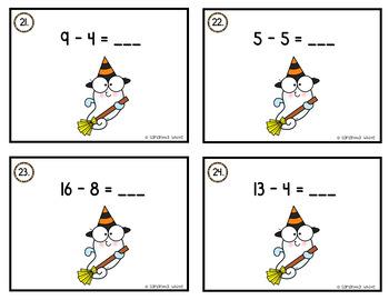 Fall Math Task Cards (14 Set Bundle)