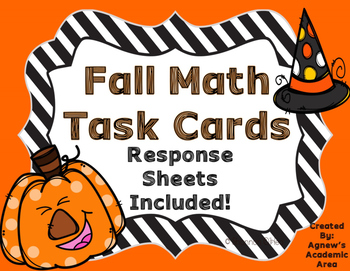 Fall Math Task Cards: Multiplication, Division, Factors, Multiples