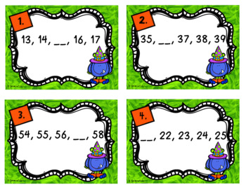 Fall Math Task Cards - Missing Addends